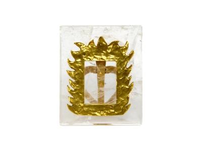 Robert Goossens - Porte photo en cristal de roche et bronze doré