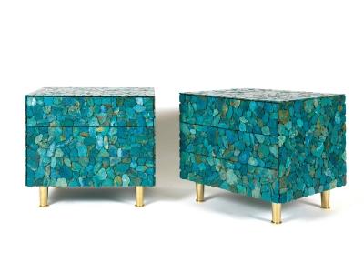 KAM TIN - Chevet en turquoise - circa 2013