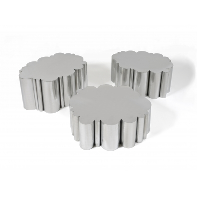 KAM TIN, Cloud tables in polished Aluminium