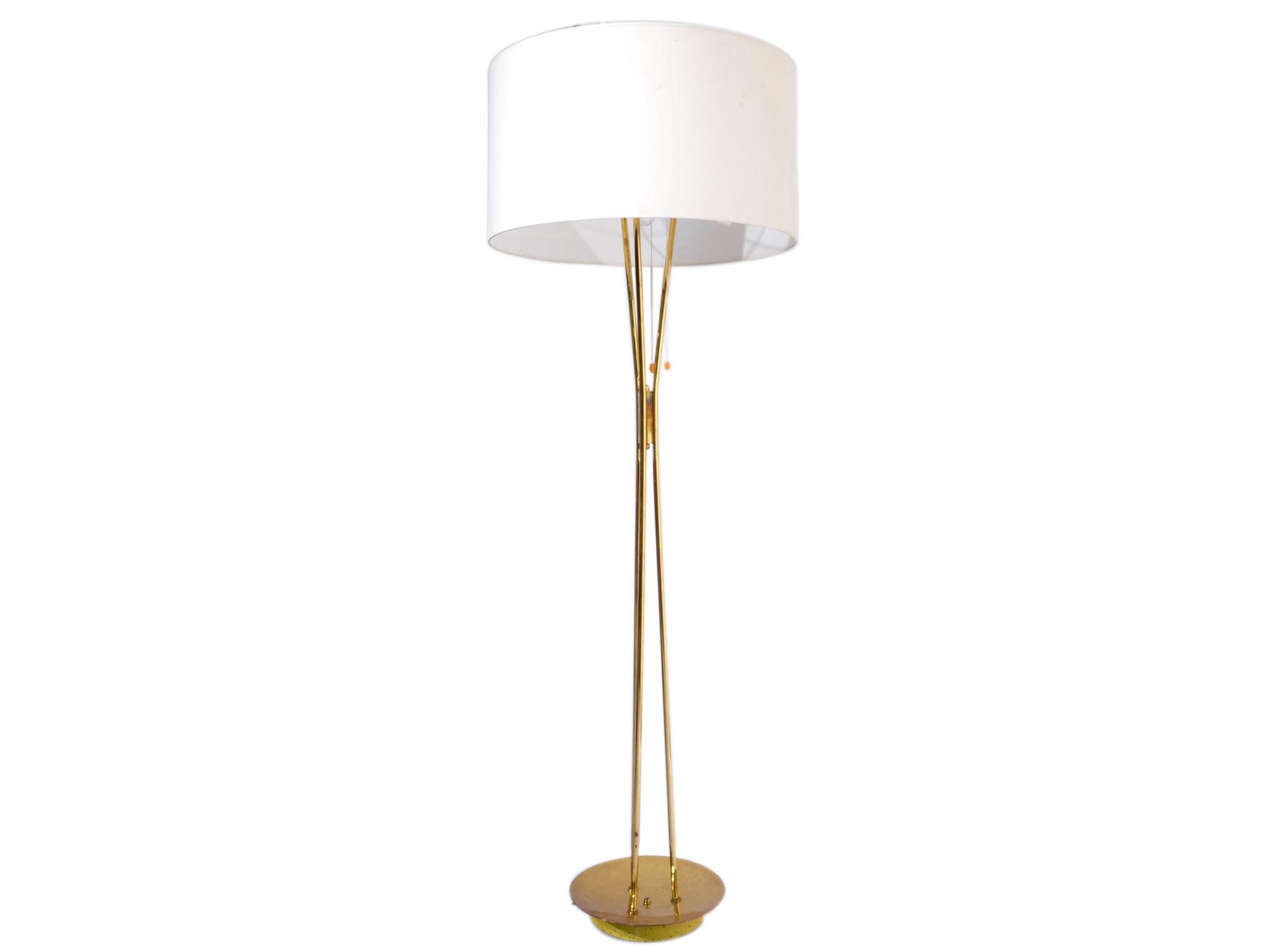 Italian floor lamp in brass 1950s maison rapin