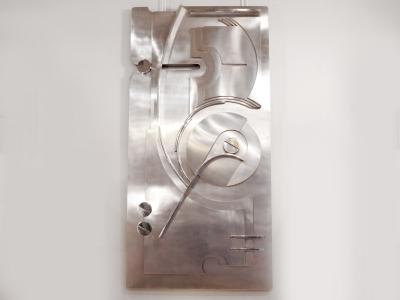 F. Sartori - Panneau en acier chromé - 1972