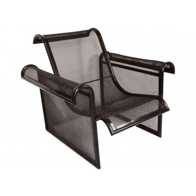 Ronald cecil sportes fauteuil en m tal laqu noir 1982 maison rapin - Fauteuil noir conforama ...
