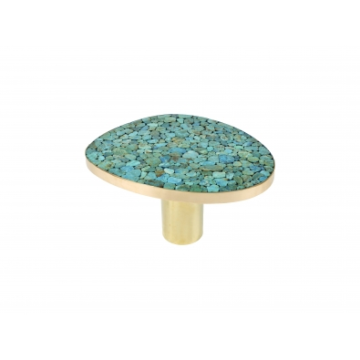 KAM TIN, Table d'appoint en Turquoise