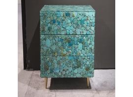 KAM TIN - Chevet Haut en Turquoise