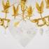 Robert Goossens - Lustre Chaîne Coeur, bronze doré, cristal de roche - Circa 1980