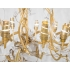 Robert Goossens, Ribbon Chandelier, Gilded bronze and rock cristal, 1985
