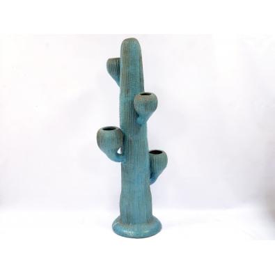 Travail Français - Cactus en grès émaillé - Circa 1950