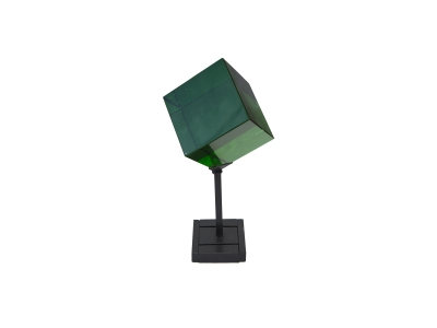 VISTOSI, Green glass on a pedestal