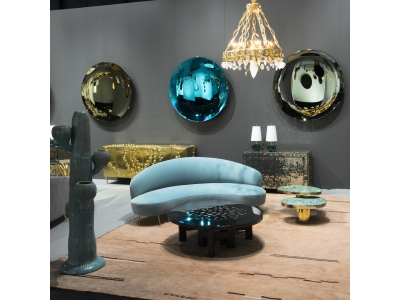 Attrib. à Federico Munari - Sofa Curvato Bleu
