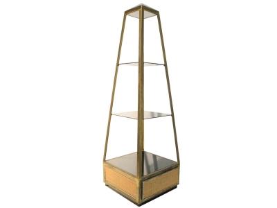 Willy Rizzo - Paire de présentoirs en forme d'obélisque