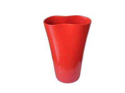 Ambrogio Pozzi - Vase en céramique laquée rouge - circa 1950