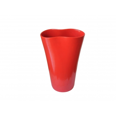 AMBROGGIO POZZI, Vase en céramique laquée rouge