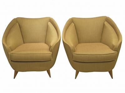 ISA - Paire de fauteuils, Italie, circa 1950