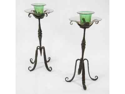 Alessandro Mazzucotelli - Pair of candleholders, circa 1900
