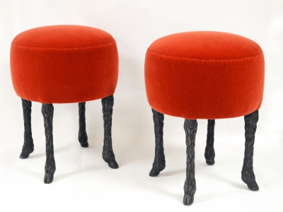 """Marc Bankowsky - Stools """"Goat Legs"""" in bronze, France, 2018"""