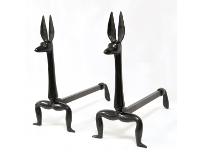"Marc Bankowsky - Pair of andirons ""Anubis"" in bronze - 2017"
