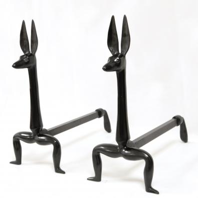Marc Bankowsky - Paire de chenets en bronze