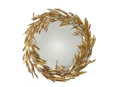 ROBERT GOOSSENS, Miroir sorcière gerbes de blé, 100 cm