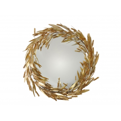 ROBERT GOOSSENS, Witch mirror with a crown of sheaf o wheat, 80 cm