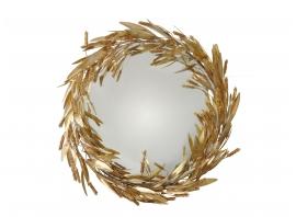 ROBERT GOOSSENS, Miroir sorcière gerbes de blé, 80 cm