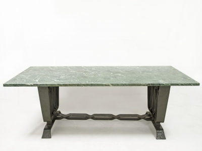Pier Luigi Colli - Table in wrought iron and marble, Italy 1925