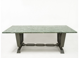 Pier Luigi Colli - Table en marbre et fer battu, circa 1925