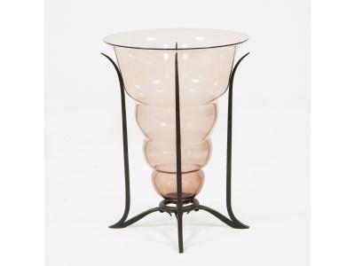 Umberto Bellotto - Coupe en verre et fer battu, circa 1925