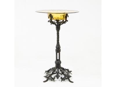 Carlo Rizzarda - Coupe en verre soufflé et fer forgé - circa 1915