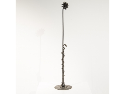Alessandro Mazzucotelli - Flower sculpture in wrought iron - circa 1910