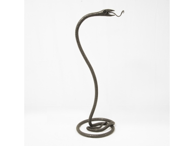 Carlo Rizzarda - Snake sculpture in wrought iron, circa 1910