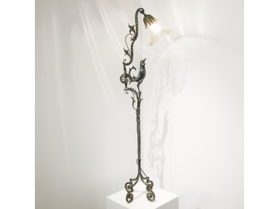 Carlo Rizzarda - Lamp in wrought iron
