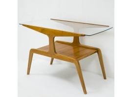 Gio Ponti - Table basse en bois et verre