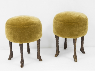 Marc Bankowsky - Pair of stools in bronze - 2018