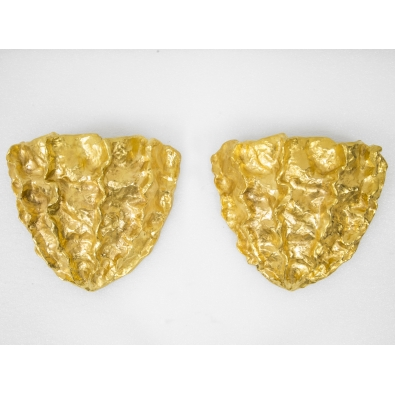 Marc Bankowsky - Pair of wall lights in gilded bronze - 2018