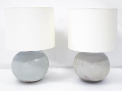 Jacques et Dani Ruelland - Paire de lampes en céramique - circa 1960-1970