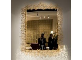 Robert Goossens - Important Coral mirror in gild bronze - 1975