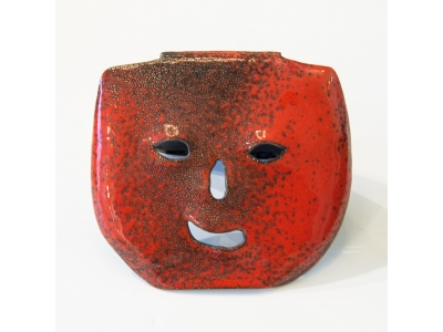 Gio Ponti - Mask in enameled copper - ca 1950