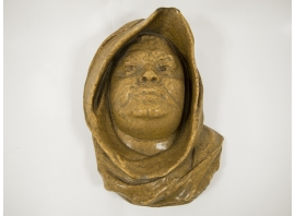 Paul Jeanneney - Masque en grès émaillé - circa 1900