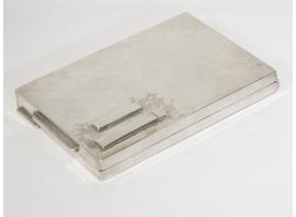 Jean Després - Étui à cigarette en métal argenté