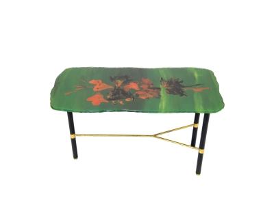 FONTANA ARTE, Coffe table with a glass top plate, 1960