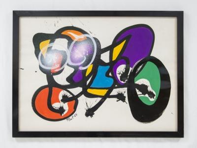 ANNE-MARIE PAUL, Gouache sur papier, 1967