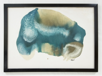 ANNE-MARIE PAUL, Resin on paper, circa 1970