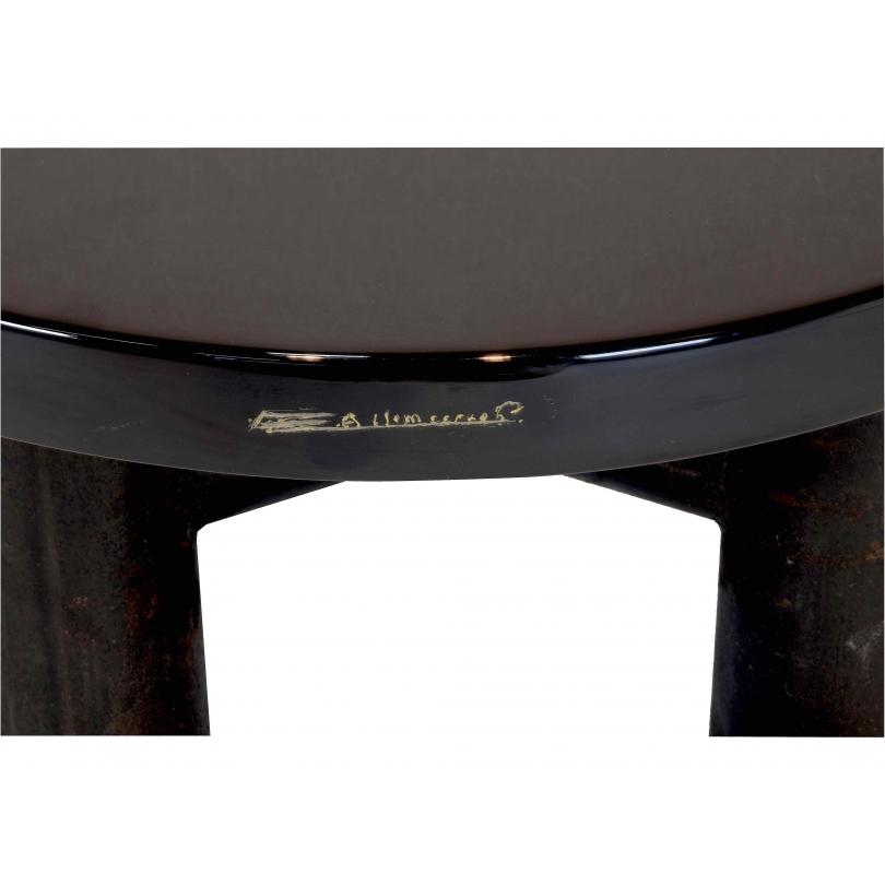 Etienne allemeersch petite table basse en r sine noire - Petite table basse noire ...