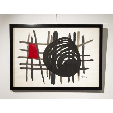 Anne-Marie Paul - Gouache et collage sur papier - 1968