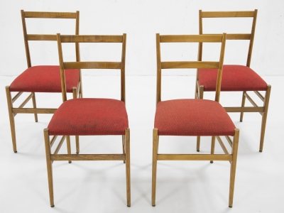 Gio Ponti - Set of 4 Superleggera chairs - edition Cassina