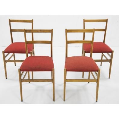 Gio Ponti - Set of 4 Superleggera chairs - edition Cassina