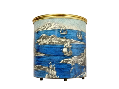 "PIERO FORNASETTI, Ice bucket ""Sailing boats and icebergs"", 1960"