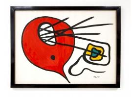 Anne-Marie Paul - Gouache sur papier - 1968