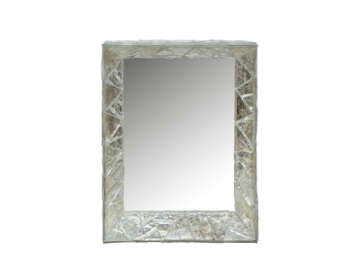 ROBERTO RIDA, Mirror framed with Murano glass from the 40's
