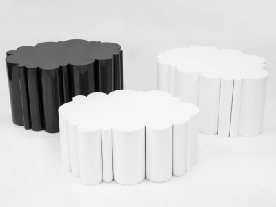 KAM TIN, Cloud tables, black and white, 2015